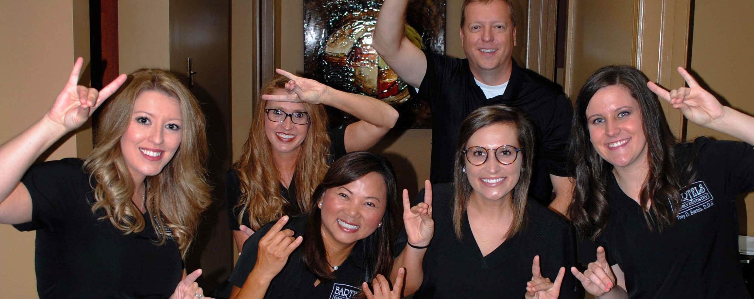 Bartels Family Dentistry showing off their smiles