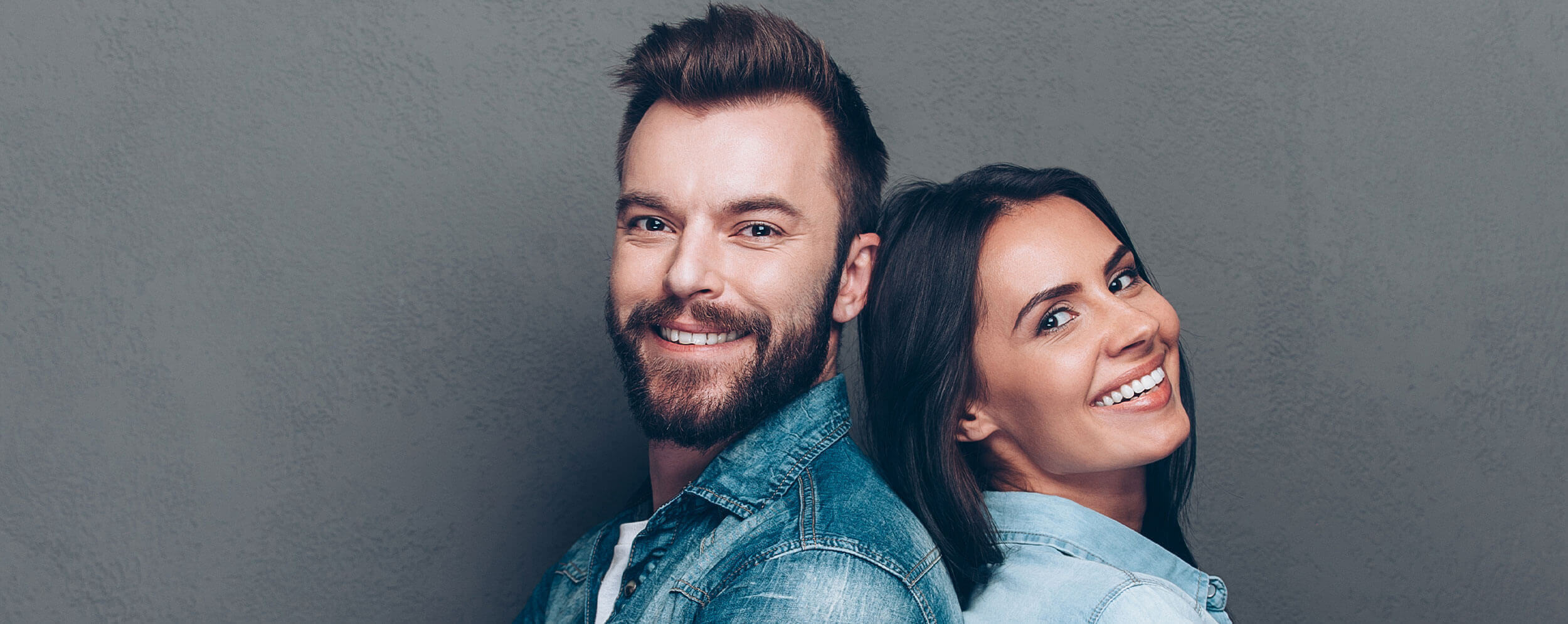 Couple smiling from cosmetic dentistry in Jonesboro