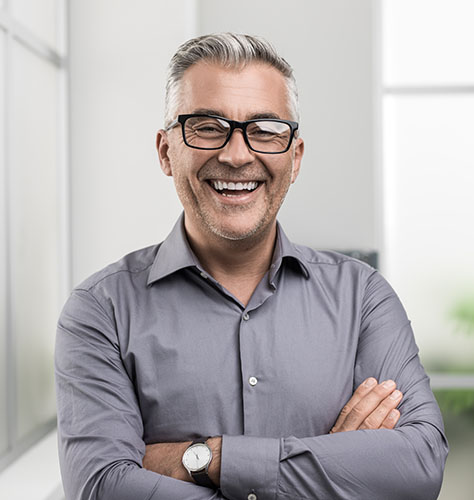 an older man smiling